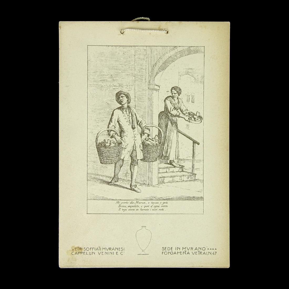 Vetri Soffiati Muranesi Cappellin 1924 Venini Calendar