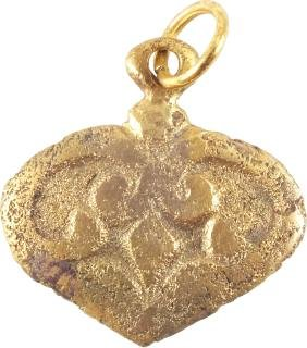 Ancient Viking Heart Pendant C.850-950 AD