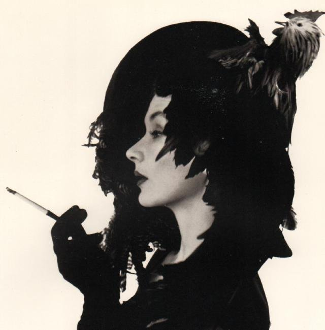 IRVING PENN - Lisa in Chicken Hat, 1949