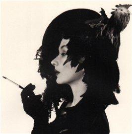 IRVING PENN - Lisa in Chicken Hat, 1949