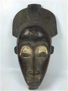Vintage African Art Baule Ceremonial Mask Ivory Coast