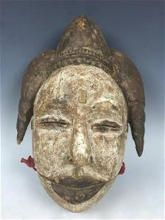 Very Old African Art Ogoni Talking Mask from Nigeria