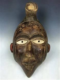 Vintage African Art Bacongo Ceremonial Mask D.R. Congo