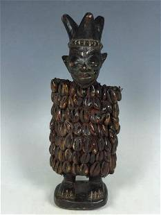 Old African Art Ibeji with Cowry Shell Doll