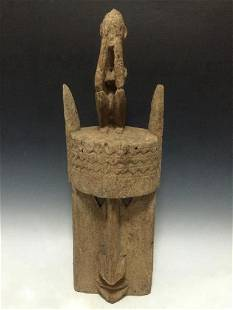 Vintage African Art Dogon Ceremonial Mask from Mali