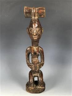 Vintage African Art Yuroba Shango Statue from Nigeria