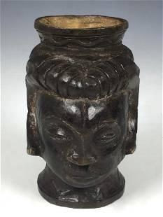 Vintage African Art Kuba Cup from D.R.Congo