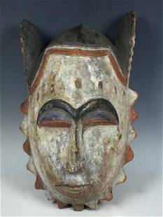 Vintage African Ibo Ceremonial Mask from Nigeria
