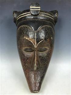 African Art Black Fang Ceremonial Mask from Gabon