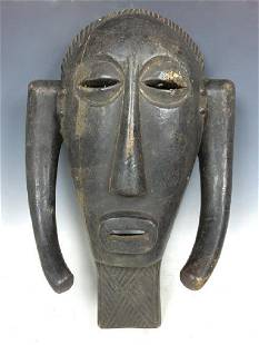 Vintage African Art Chokwe Ceremonial Mask D.R.Congo