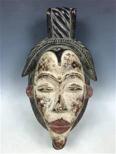 African Art Punu Ceremonial Mask from Gabon