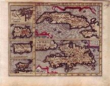 Cuba Insul/Hispaniola Map, Mercator, 1620