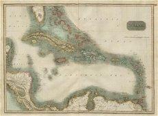 West Indies Map, John Thomson, 1817
