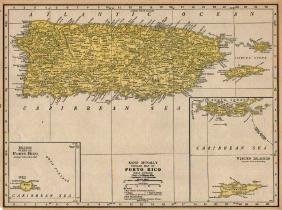 Popular Map of Port Rico, Rand McNally, 1921