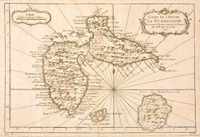 Carte de l'Isle de la Guadeloupe Map