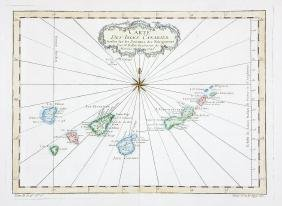Spanish Canary Islands Map, Bellin, 1746