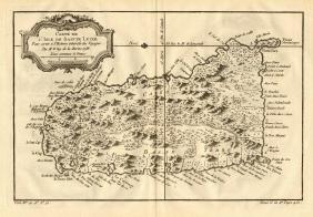 L'Isle de Sainte Lucie, Caribbean Map, Bellin, 1758