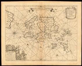 The Islands Of Orkney' Sea Chart, Capt G. Collins, 1774