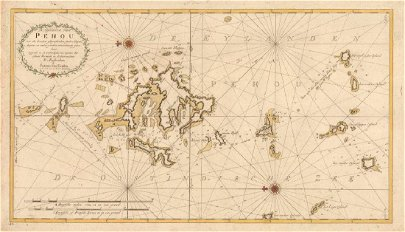 Penghu Islands Taiwan Map, Van Keulen, 1753