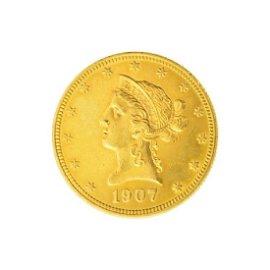 1907 $10 U.S. Liberty Head Gold Coin