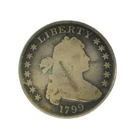 1799 13 Star Drapped Bust Dollar Coin