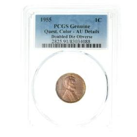 1955 Lincoln Cent Genuine Quest Coin