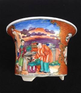 Chinese Mandarin Flower Pot / Cache Pot, 18th C