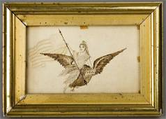 American Lady Liberty Eagle American Flag, 1876
