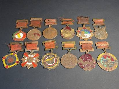 Set of 12 Old Chinese Medals