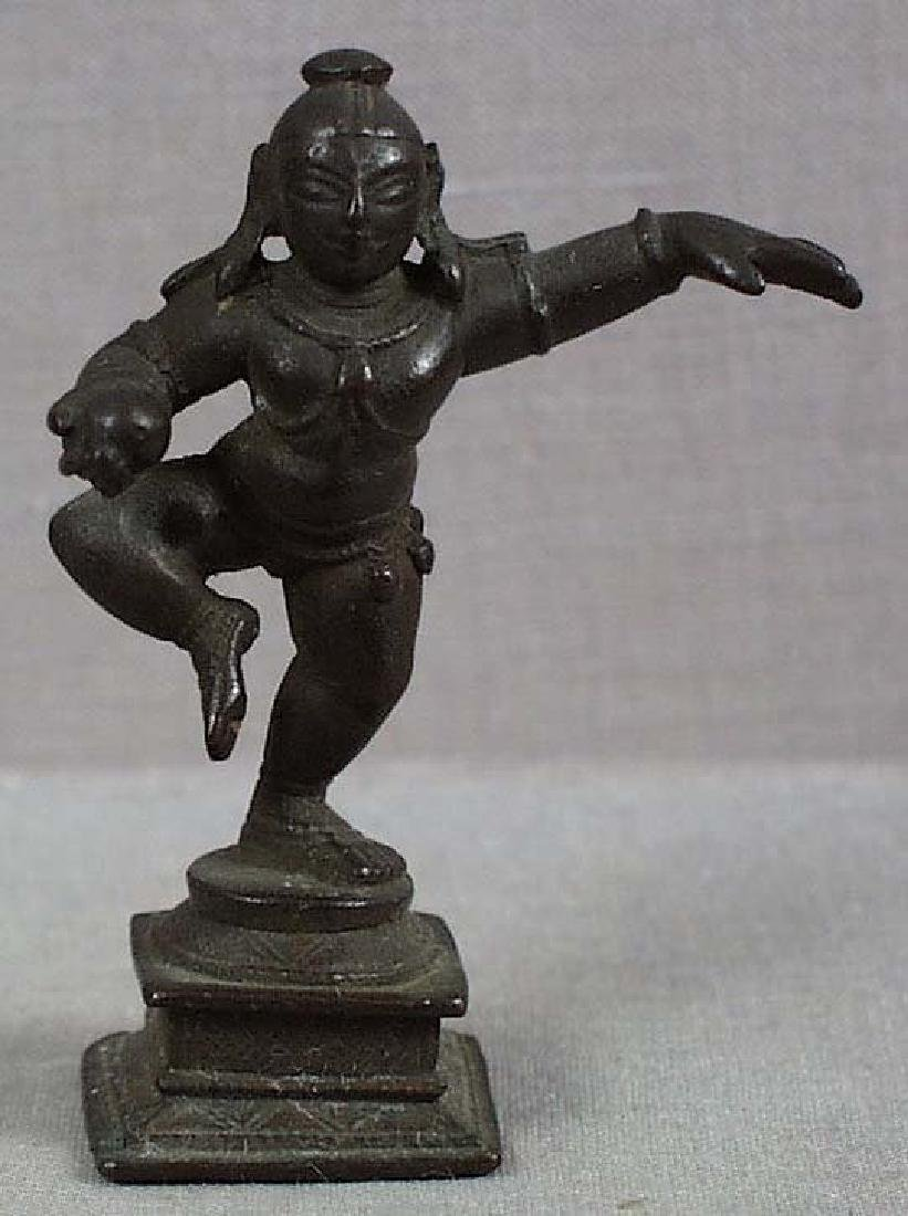 Indian Bronze Dancing Baby Krishna, 18/19th C