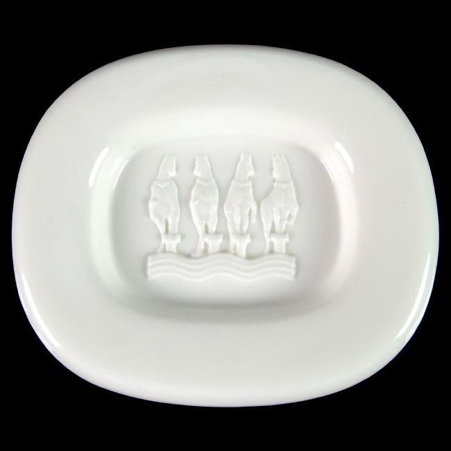 Livio Seguso Murano St. Marks Venice Horses Glass Bowl