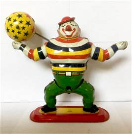 "Tin ""JOCKO"" the Clown Wind Up Toy"