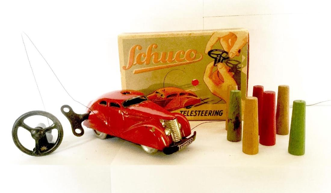 Telesteering Tin Toy CAR Wind Up by SCHUCO