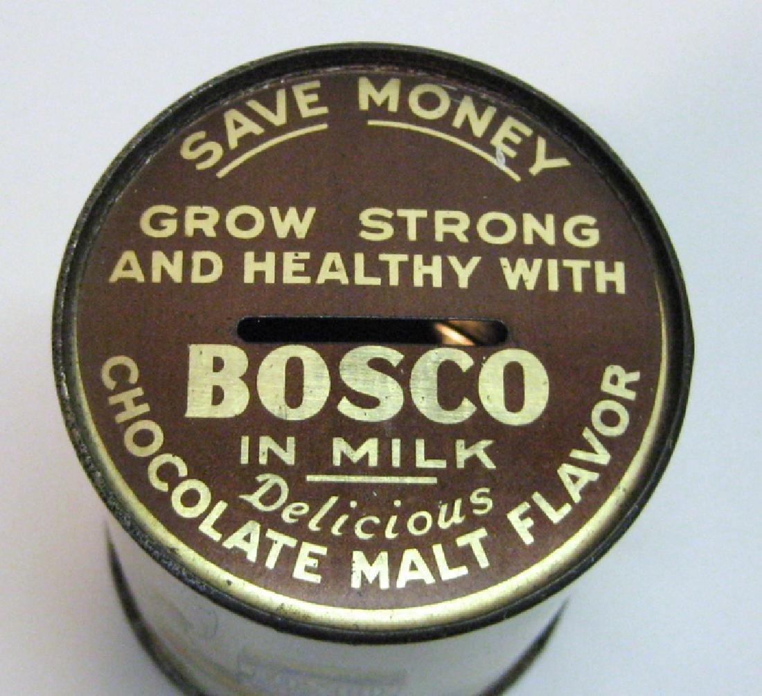Bosco Chocolate Malt Drink Tin Can Bank