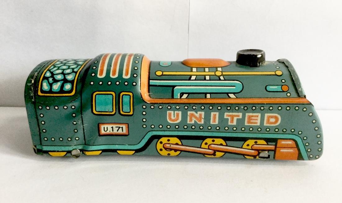 """""""United"""" Tin Friction Toy Train Engine"""