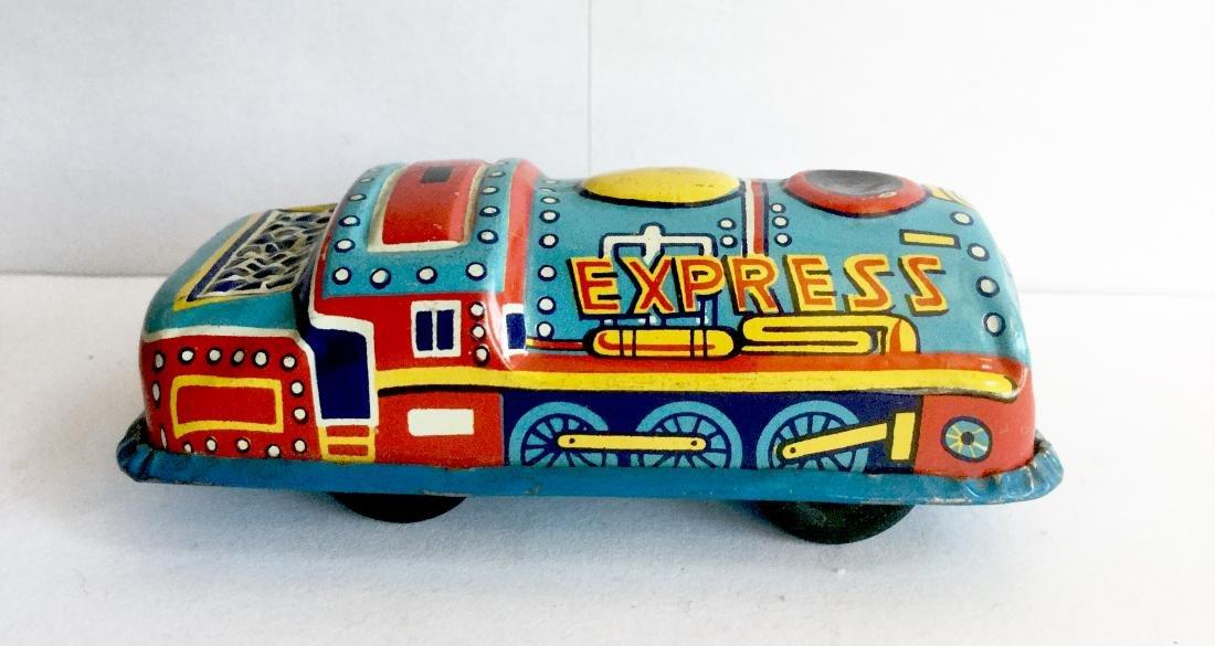 "Mini Tin ""Express"" Coal Train Engine Car"