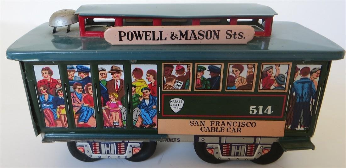 Toy San Francisco Friction Trolly Car