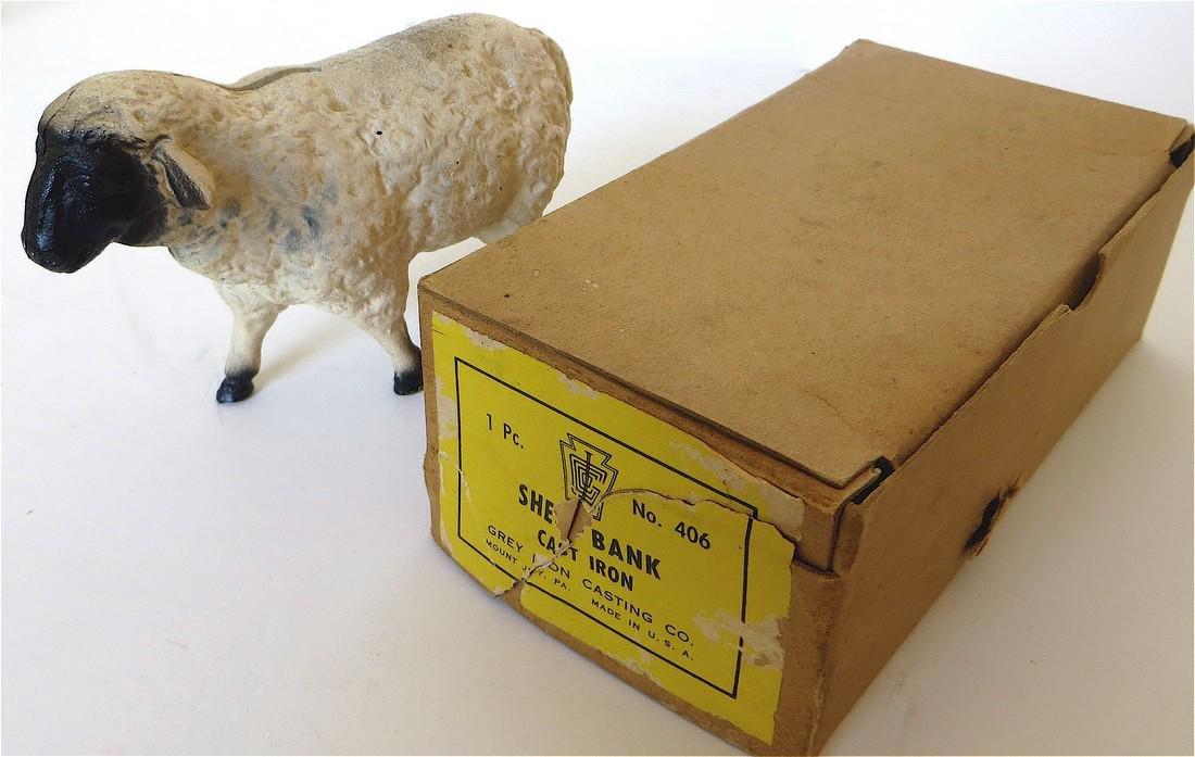 Lamb Still Bank with Original Box