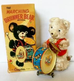 """The Marching Drummer Bear"" Wind Up Toy"