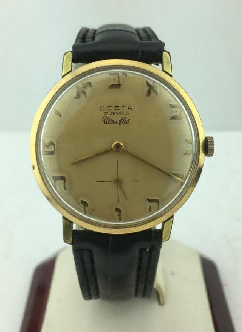 DESTA | Watch with Hebrew Letter Number Markers