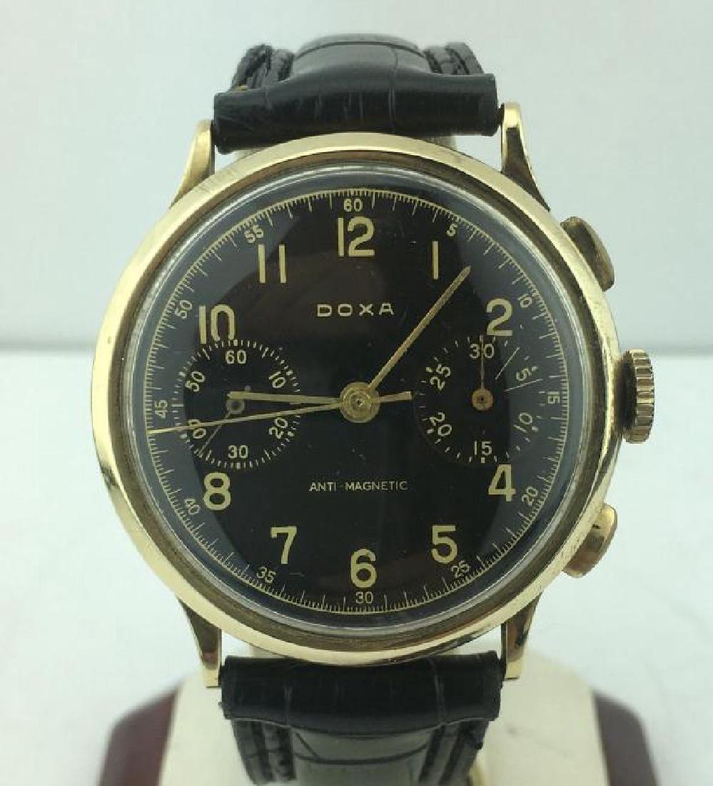 DOXA | 14k Gold Chronograph Anti-Magnetic Watch