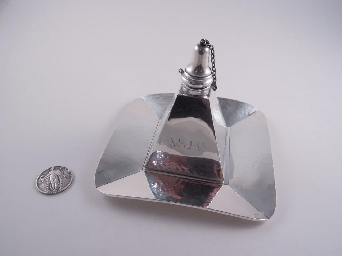 Henckel Sterling Pyramid Cigar Lamp & Tray Set - 10