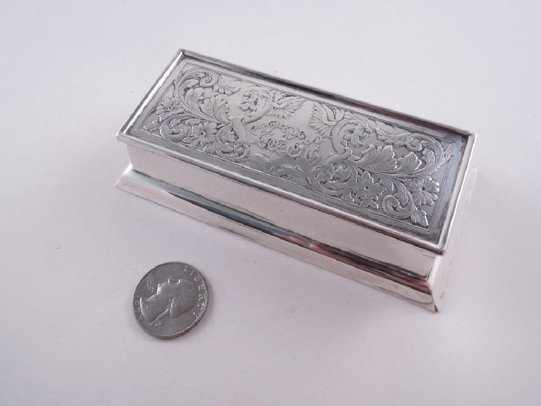 Black Starr Frost Sterling Silver Triple Stamp Box - 10