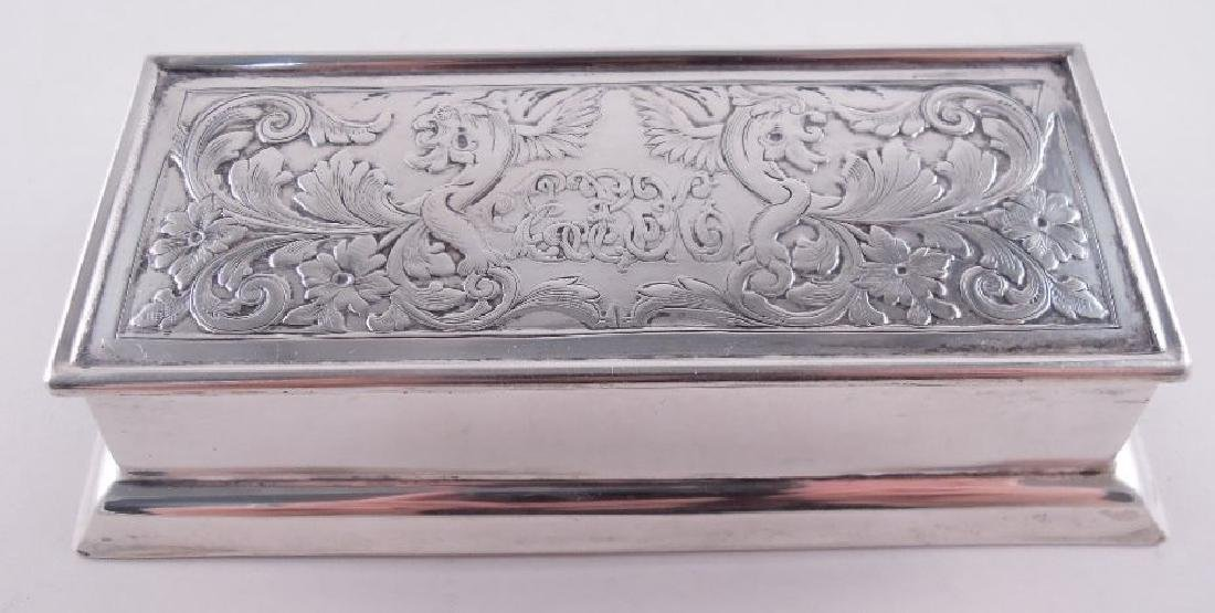 Black Starr Frost Sterling Silver Triple Stamp Box