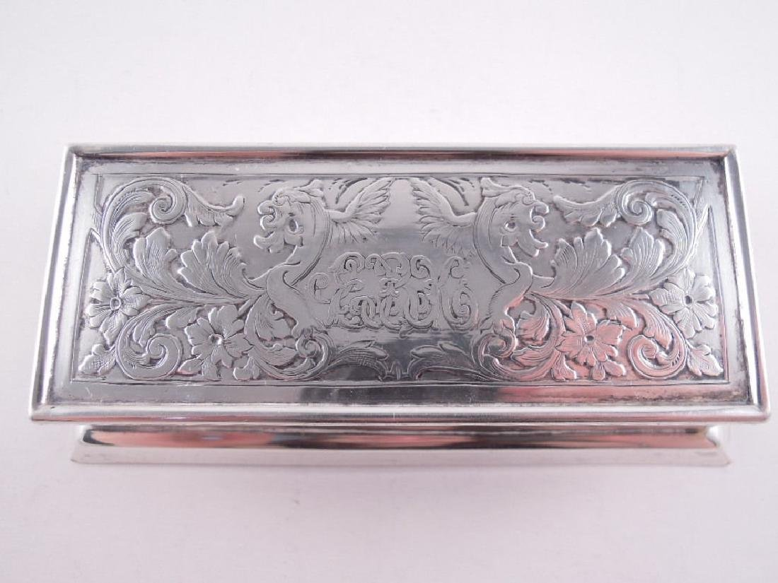 Black Starr Frost Sterling Silver Triple Stamp Box - 3