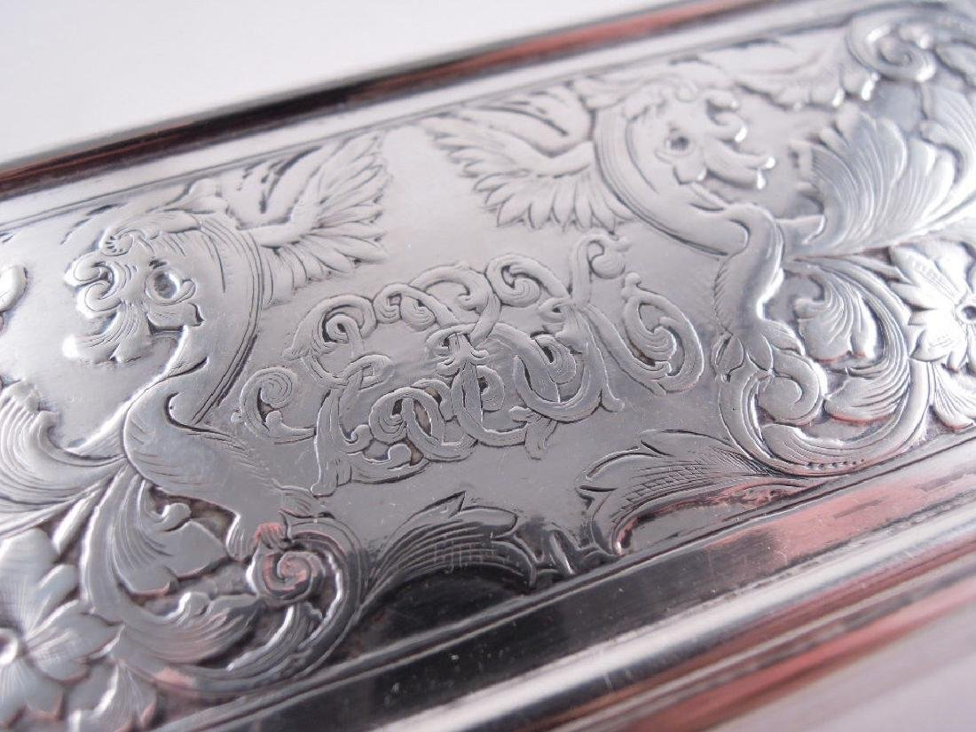 Black Starr Frost Sterling Silver Triple Stamp Box - 4