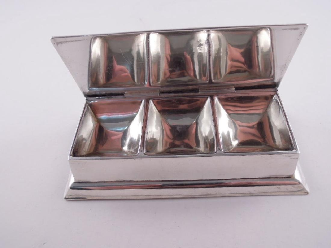 Black Starr Frost Sterling Silver Triple Stamp Box - 5