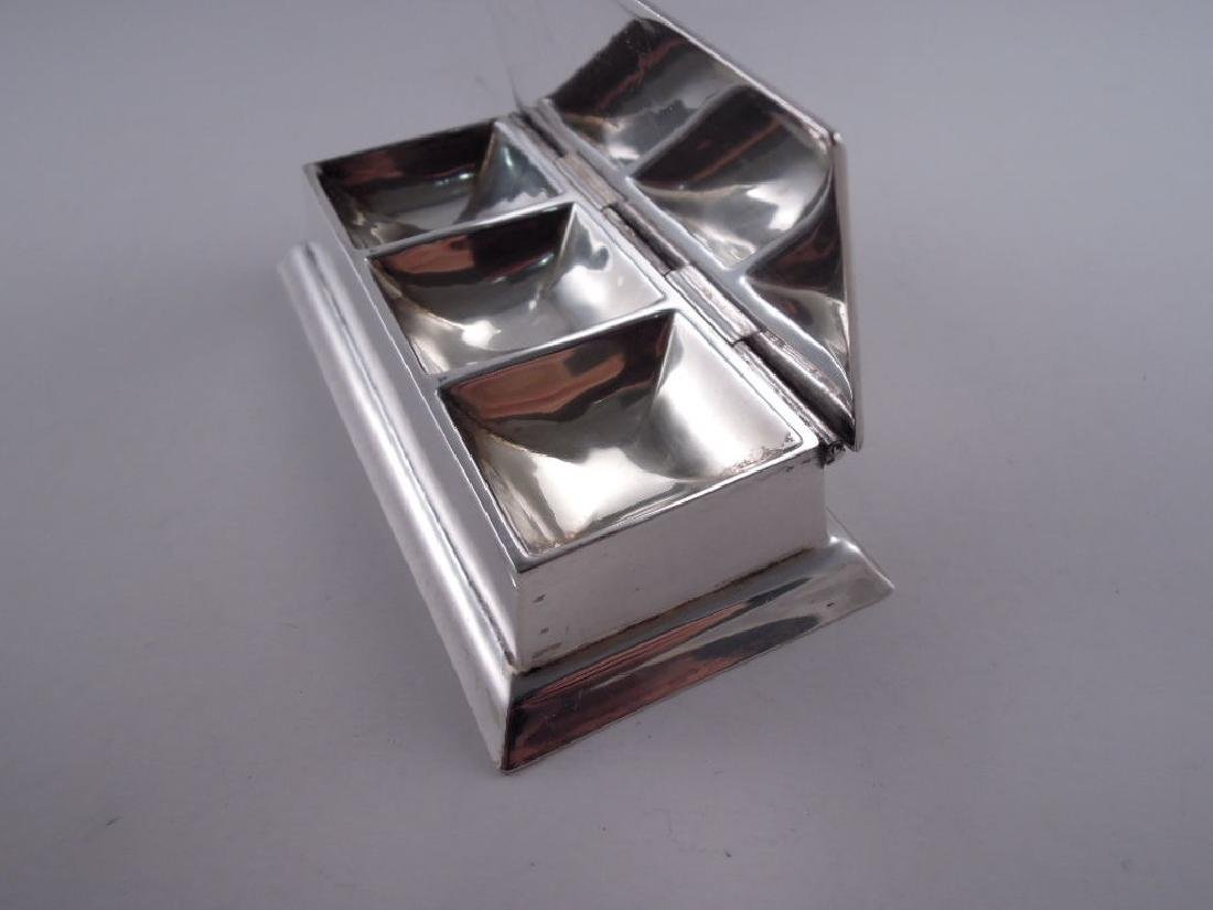 Black Starr Frost Sterling Silver Triple Stamp Box - 6