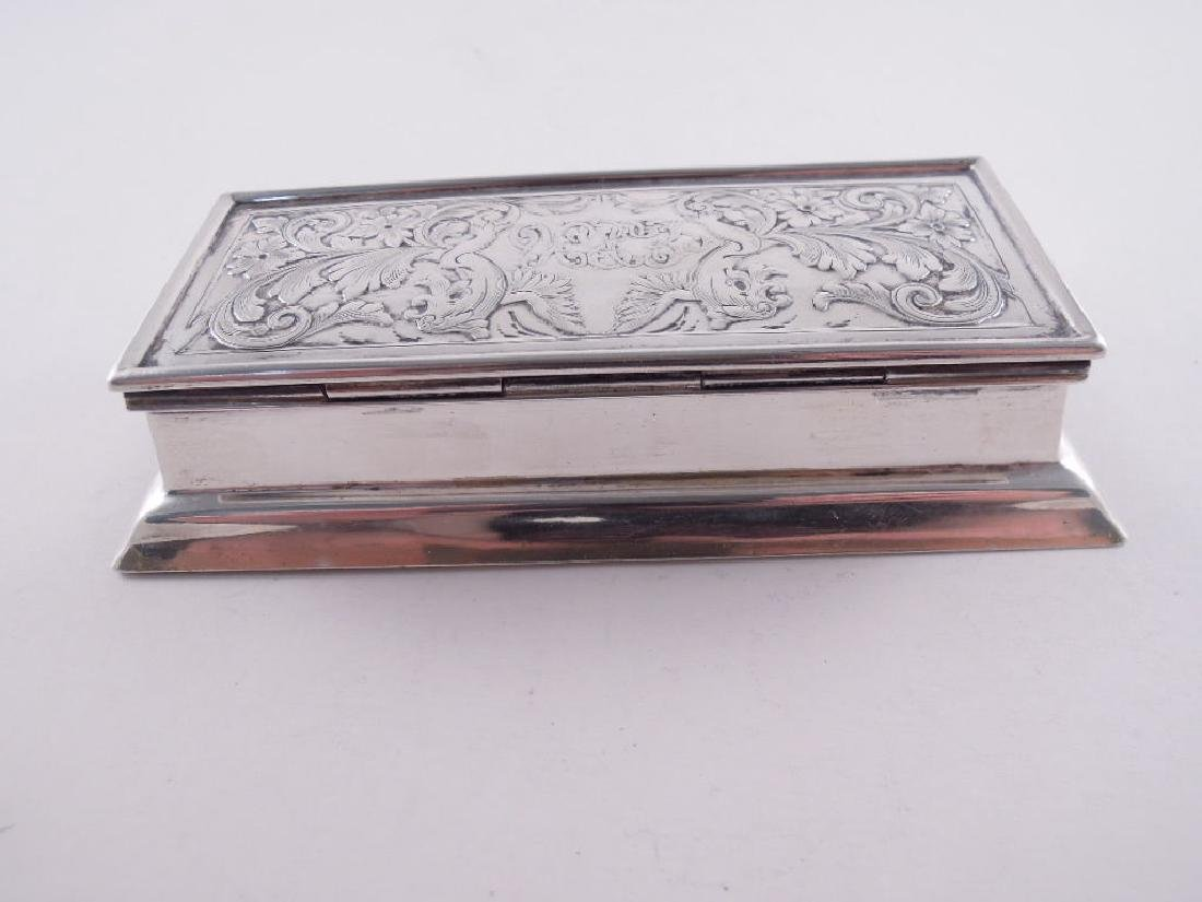 Black Starr Frost Sterling Silver Triple Stamp Box - 7
