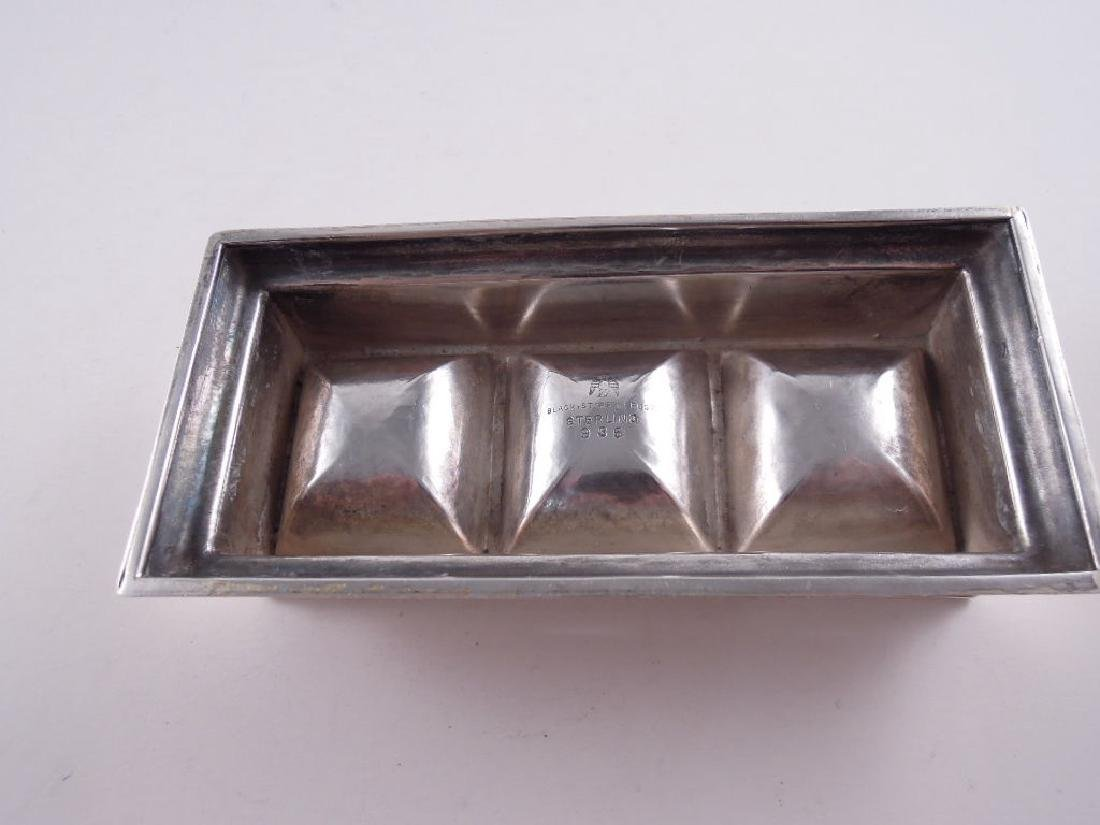 Black Starr Frost Sterling Silver Triple Stamp Box - 8